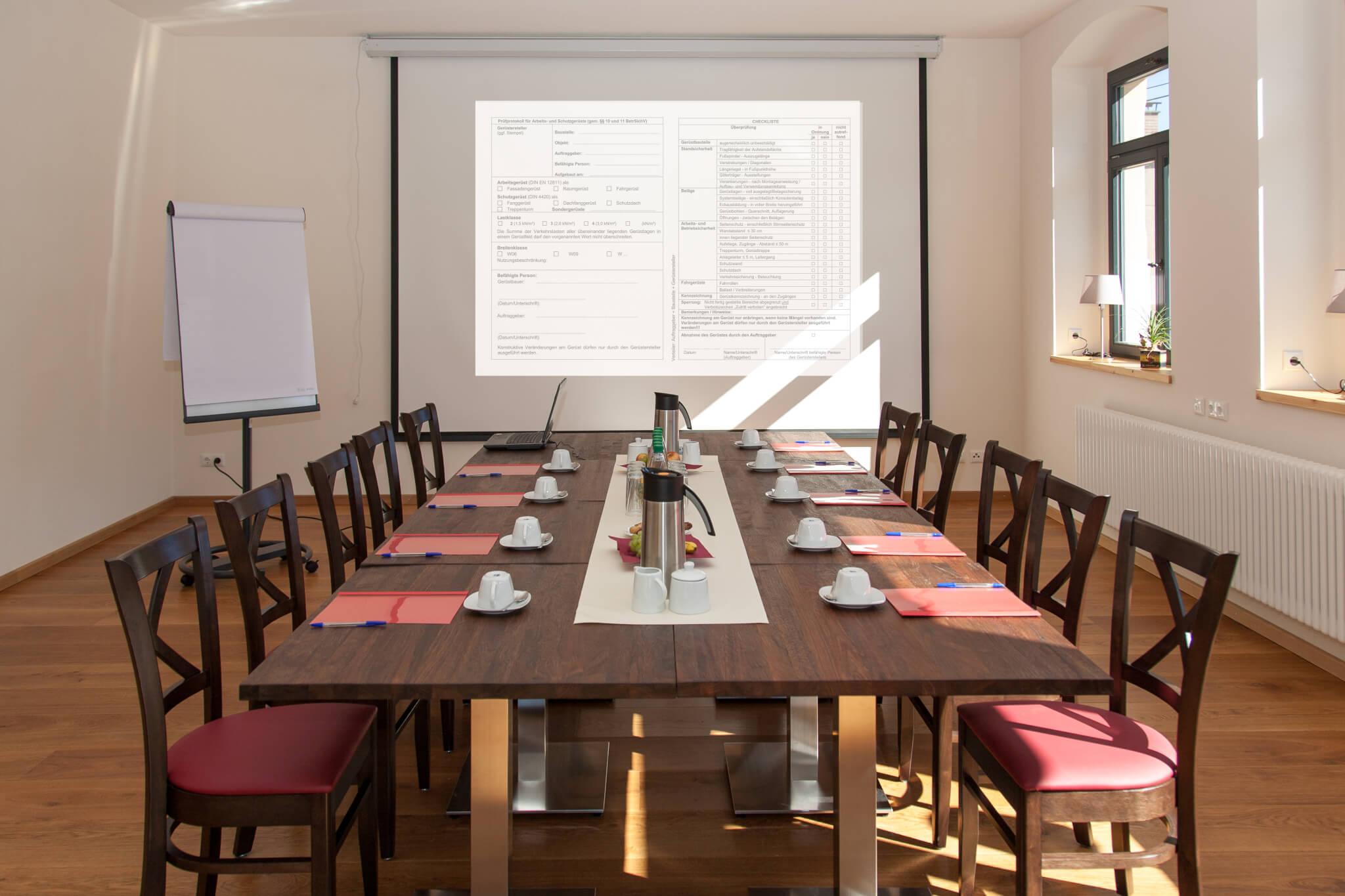 Hotel Turmschule - Einblick in den Veranstaltungsraum - Meeting